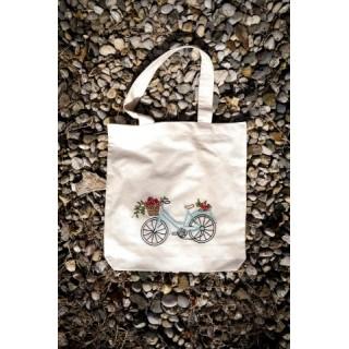 Tekstilna nosilna vrečka z ročno vezenino